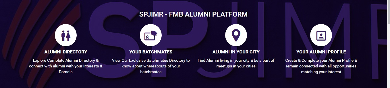 PGPFMB Alumni Platform, Harness the power of more than 3000 family managed businesses with our SPJIMR FMB Alumni Network.