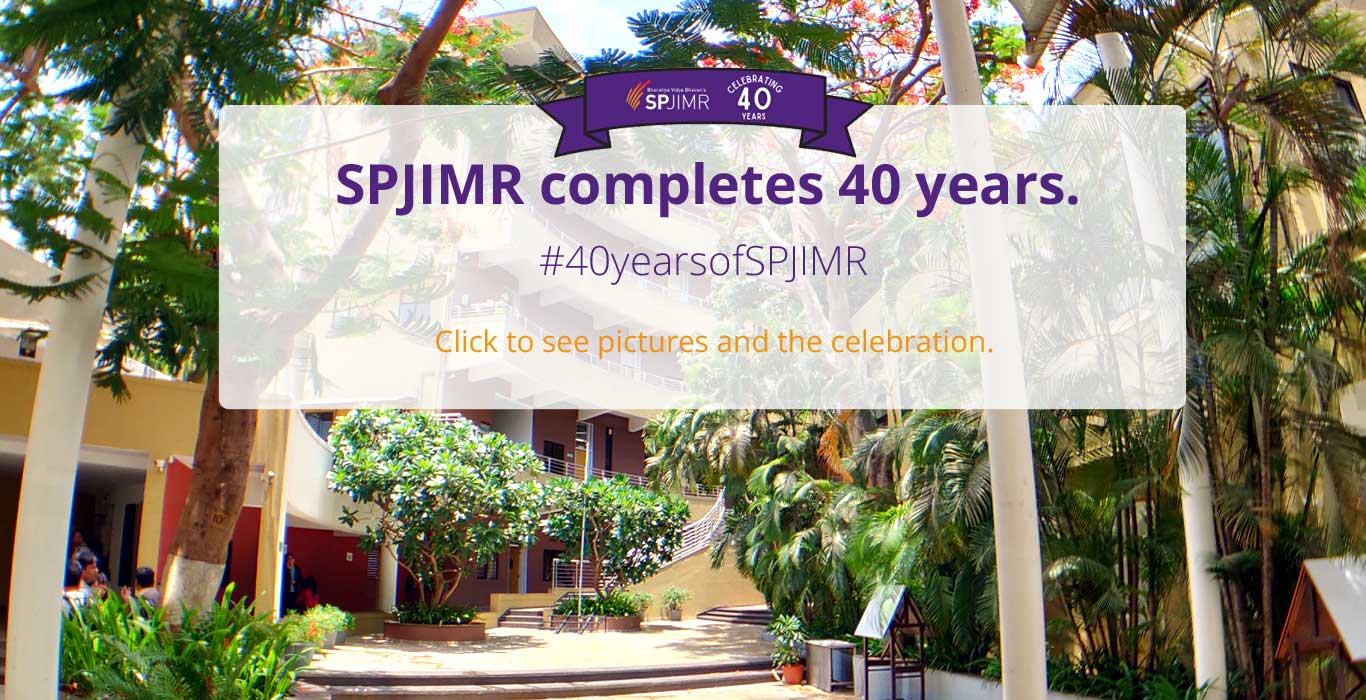 SPJIMR Day, SPJIMR Turns 40, Foundation Day