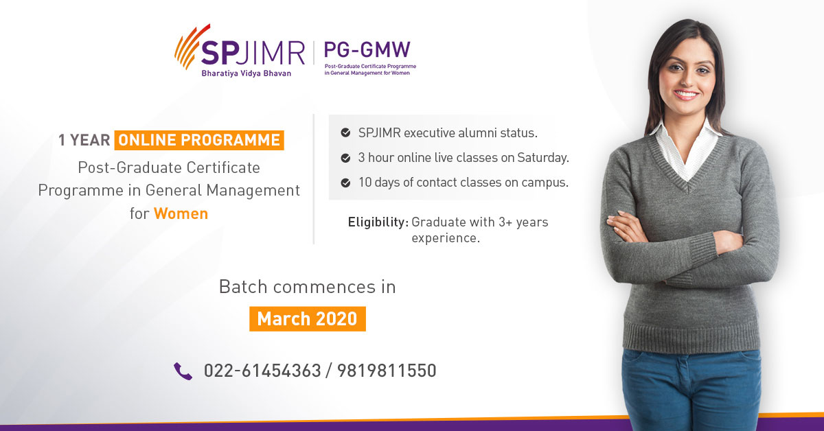 PGMPW, Executive Education, SPJIMR, SP Jain.